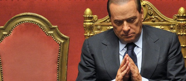 Silvio Berlusconi vor dem Ruecktritt