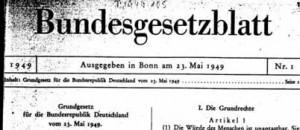 Grundgesetz im Bundesgesetzblatt 1949