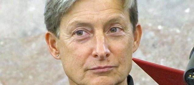 Judith Butler bei der Preisverleihung in der Paulskirche
