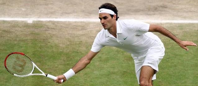 Roger Federer in Wimbledon 2012
