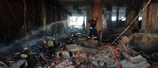 Tunesien: Ausgebranntes Klassenzimmer der amerikanischen Schule in Tunis