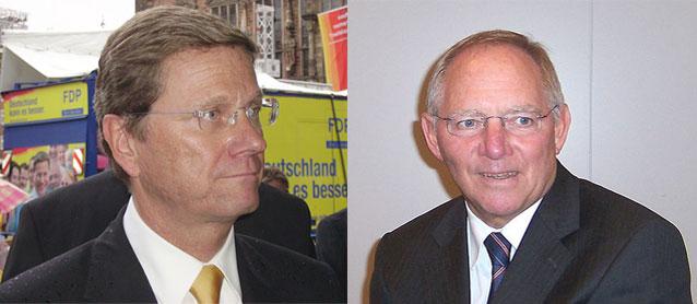 Sprechen Westerwelle und Schäuble über das Ende von schwarz-gelb?