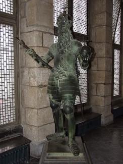 Krönungssaal, Karl der Große im Aachener Rathaus