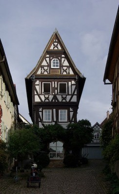 Fachwerkhaus in der Badgasse von Bad Wimpfen