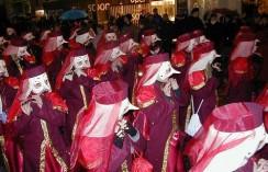 Basler Fasnacht - Clique mit ihren typischen Masken und den Piccolo-Flöten