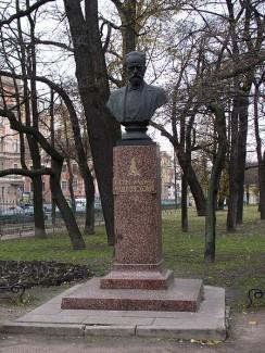Statue von Tschaikowsky in St. Petersburg