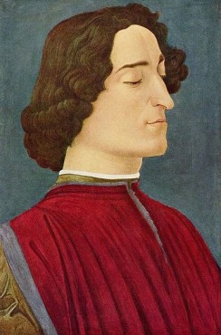 Pazzi-Verschwörung - Porträt des Giuliano de' Medici von Sandro Botticelli