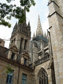 Quimper - Kathedrale von Quimper in der Bretagne