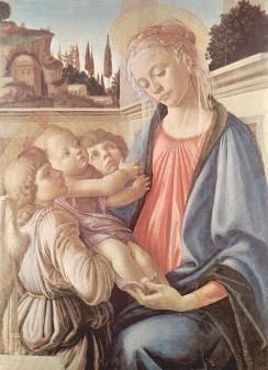 Madonna und zwei Engel von Sandro Botticelli