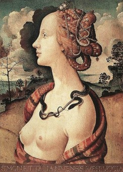 Porträt Simonetta Vespucci von Piero di Cosimo